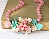 pink and aqua necklace