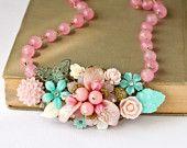 pink and aqua necklace