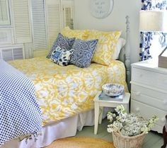 Raid your local flea market to help complete your room's country-chic look.