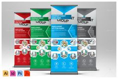 Corporate Hive Roll-Up Banner ~ Templates on Creative Market