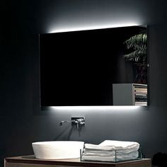 Epic antoniolupi FLASH rechteckiger Spiegel mit LED Beleuchtung L nge mm