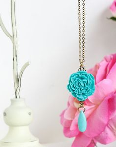 Free Shipping  Statement Necklace Turquoise by JacarandaDesigns
