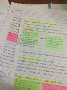 Pretty notes inspire me to study more! Class Notes, School Notes, Pretty Notes, Good Notes, Map Mind, College Notes, College Success, College Life, Study Organization