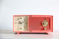 vintage mid century radio clock by wretchedshekels on Etsy,