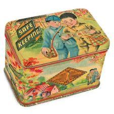 Safe Keeping Treasure Tin By Blue Q  Jewellery Box, Vintage Retro oriental Style