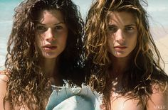 Editor Polly Allen Mellen worked with photographer Herb Ritts to capture Carré Otis (left) and Stephanie Seymour in all their tousled glory in 1989.