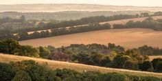 House in the hill - Early morning light looking over Alfriston in Sussex England