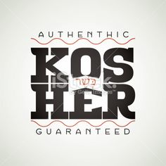 Kosher Signage Royalty Free Stock Vector Art Illustration