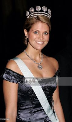 Princess Madeleine Of Sweden Attends A Gala Dinner For The Nobel Laureates At The Royal Palace In Stockholm. (Photo by Julian Parker/UK Press via Getty Images)