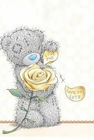 Tatty Teddy love you love you lots Tatty Teddy, Teddy Bear Images, Teddy Bear Pictures, Cute Images, Cute Pictures, Valentines Day Images Free, Urso Bear, Watercolor Card, Blue Nose Friends