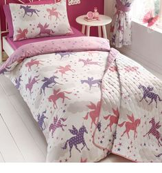 Adorable Unicorn and Fairy Duvet Set is the perfect addition to your little girls bedroom. Made from poly cotton, this duvet set is perfect for those little one's with sensitive skin.