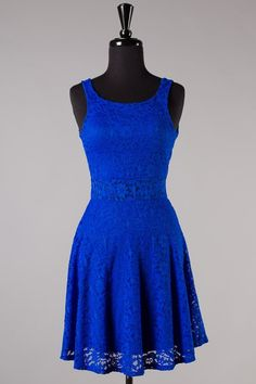 Royal Blue Lace Dress | Ooh La Luxe! - Juniors & Contemporary High Street Fashion