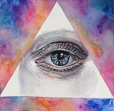 All seeing eye by ericadalmaso on DeviantArt Classical Realism, All Seeing Eye, Van Gogh, Impressionist, Artsy Fartsy, Psychedelic, Pretty In Pink, Amazing Art, Watercolor Tattoo