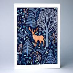 The Stag - A4 / A3 Artists Print - Papio Press