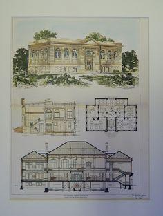 The Carnegie Library Easton, Pennsylvania, 1903, Original Plan. Jardine, Kent, & Jardine.