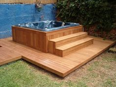 Jacuzzi Outdoor, Outdoor Spa, Hot Tub Backyard, Swimming Pools Backyard, Rustic Hot Tubs, Backyard Patio Designs, Spas, House, Bathtubs