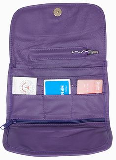 Purple Leather Wallet Purse