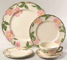 Franciscan Ware USA Desert Rose 5 Piece Table Setting by Ariamel, $90.00