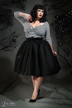 Jenny Skirt in Black Sharkskin Taffeta - Plus Size Clothing, Shoes & Jewelry - Women - Plus-Size - Wantdo - women big size clothes - http://amzn.to/2lfaYAF