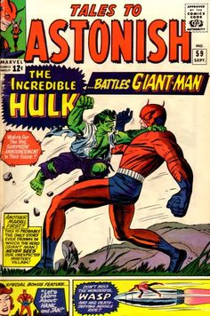 Here is a gallery of early Kirby covers featuring the King's early more monsterish take on the Hulk, whose story in those early years was the story of Marvel.