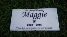 Personalized White marble Heart design Pet Dog by PetStonesUSA