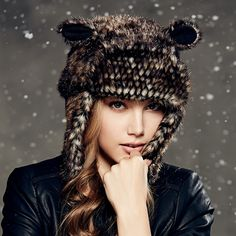 4e3ea1c822a Aliexpress.com   Buy Kenmont Winter Warm Women Girl Lady Earflap Outdoor  Bomber Trapper Aviator Animal Hat Ski Cap 4866 from Reliable Bomber Hats  suppliers ...