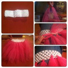 How to make a tutu using a headband.