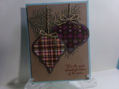 Ornaments On A Branch Christmas Card by TheCraftieOne on Etsy