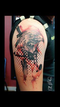 Justin Nordine Tattoos www.justinnordine.net  Polka trash inspirations