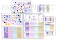 Dreamy Full Weekly Sticker Kit 176 Planner by PaperEmpireInc