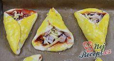 Pizza kornoutky se šunkou a sýrem