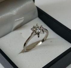Vintage Ringe - Ring Silber 925 mit Kristall-Steinchen schön SR549 - ein Designerstück von Atelier-Regina bei DaWanda