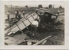 Train wreck- hit Mr King's truck, 1939