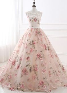 Long Evening Dresses With Lace Appliques Printed Floral Formal Prom Dress For Women Real Photo Robe De Soiree