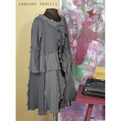 Oh Lovely Moth, all gray mega-sweater, reconstructed by Secret Lentil