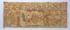 Stole with the Martyrdom of St. Catherine Date: ca. 1200 Geography: Made in Rhineland, Germany Culture: German Medium: Silk with linen underlay Dimensions: Overall: 7 3/4 x 19 1/4in. (19.7 x 48.9cm)