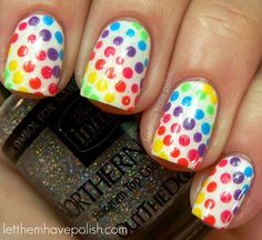 these nails make me want candy dots :) bring back the childhood days!