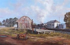 The train depot by Brian Nash