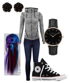 """Everyday"" by the-minky on Polyvore featuring Levi's, Converse, Manic Panic NYC, Topshop and Erica Lyons"