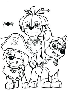 62ac6b9c9 Coloring with us the Paw Patrol of Halloween! Usate tanti colori e tanta  fantasia e DIVE. Nick Jr ...