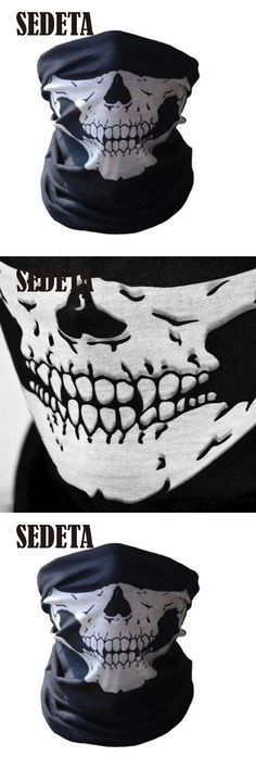 [Visit to Buy] HOT Cool Tubular Skull Ghosts Ghost Mask Bandana Motor bike Sport Scarf Neck Warmer Winter Halloween For Motorcycle #Advertisement
