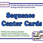 Use these twelve sets of sequence cards to help your students master this important reading strategy. Each set contains six sentence cards for stud...