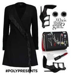 """#PolyPresents: Party Dresses"" by afef-ktari ❤ liked on Polyvore featuring Alexander Wang, Christian Louboutin, Kendall + Kylie, NYX, Thomas Sabo, contestentry and polyPresents"
