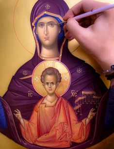 Madonna, Jesus Christ Images, Blessed Mother Mary, Orthodox Icons, Virgin Mary, Modern Art, Princess Zelda, Byzantine, Picasso