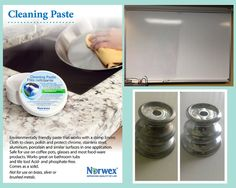 Norwex Cleaning Paste Before and After Image. (Looking for image owner for attribution)