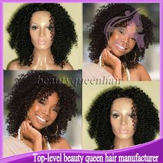 short afro kinky curly hair wig for black women.