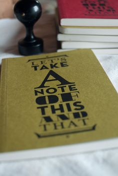 Let's take a note of this and that Notebook by notoshop on Etsy, $8.00