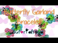 Butterfly Garland Rainbow Loom Bracelet Tutorial - YouTube