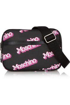 Printed textured-PVC shoulder bag #bag #women #covetme #moschino