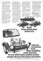 Subaru G's 1972 Ad Picture